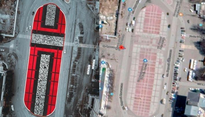 «Приведем к новой форме»: в Екатеринбурге к приезду Покраса Лампаса начинают переделывать его крест