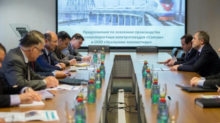 Бывший губернатор Александр Мишарин приехал в Верхнюю Пышму обсудить производство «Сапсанов»