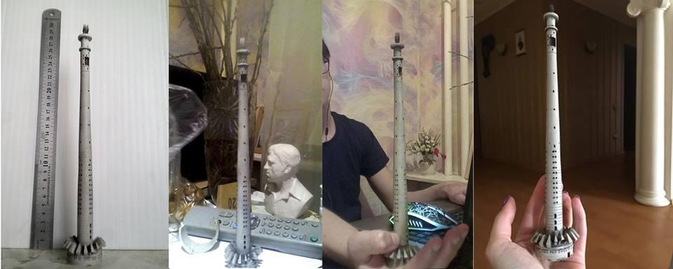 Роман Кашин уже делал небольшие скульптуры башни