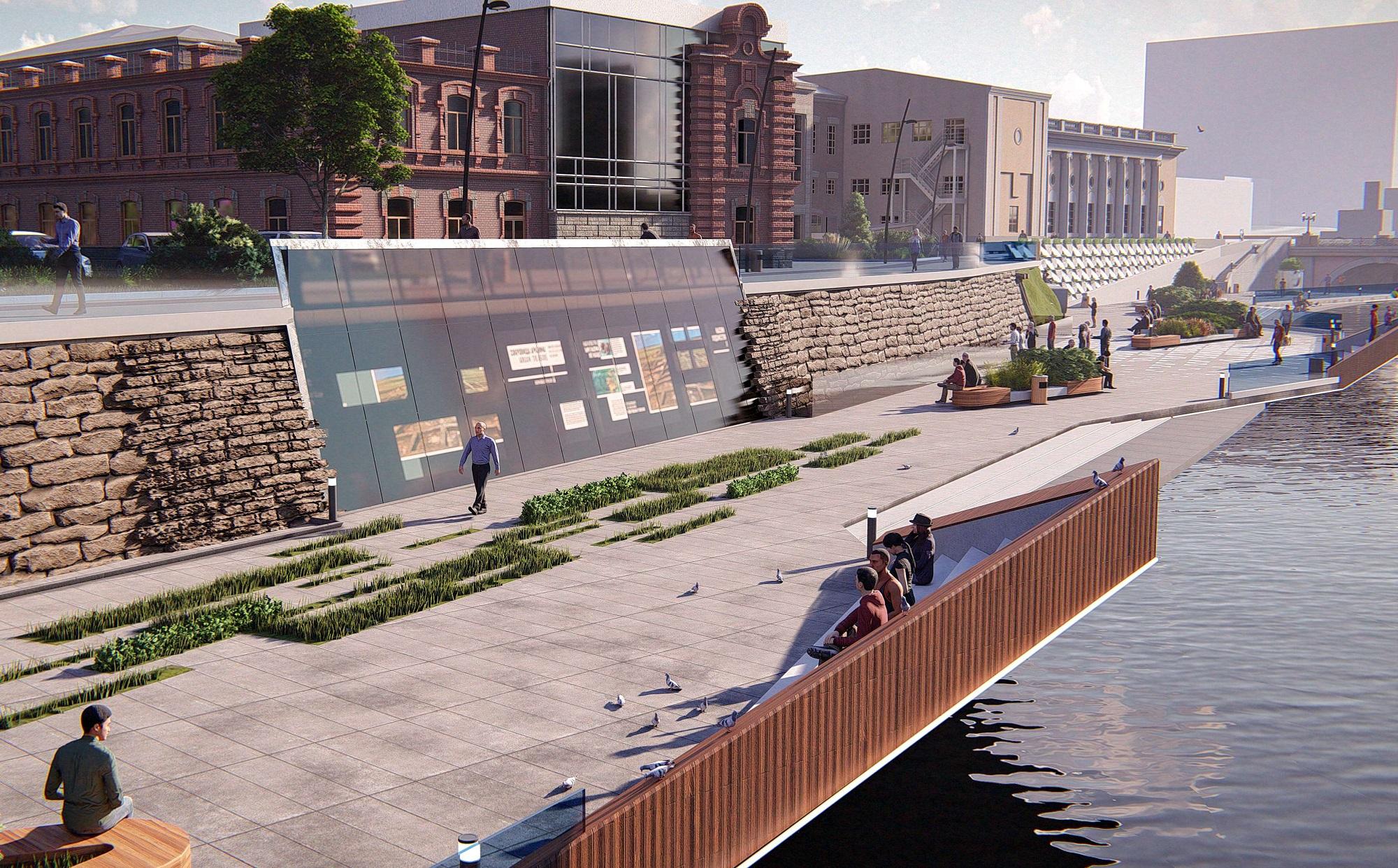 Вдоль набережной находятся исторические здания, которые ждёт реставрация