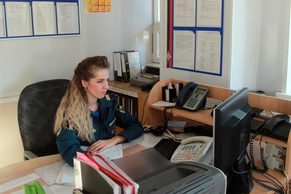 Юлия Комягина на рабочем месте