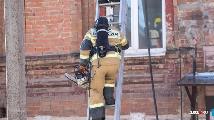 В Ростове на Станиславского произошел пожар. Есть пострадавший