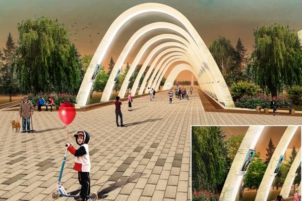 Световые арки, которые по эскизу должны установить на бульваре Победы, могут не появиться