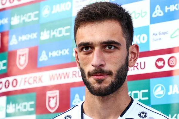 Грузинский форвардБеки Микелтадзе забил один гол в Премьер-Лиге