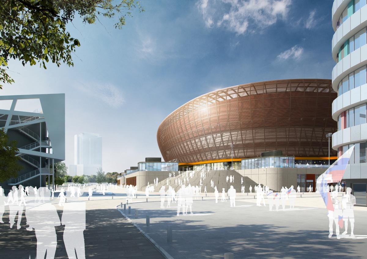Арена, которую будет возводить медная компания, будет медного цвета