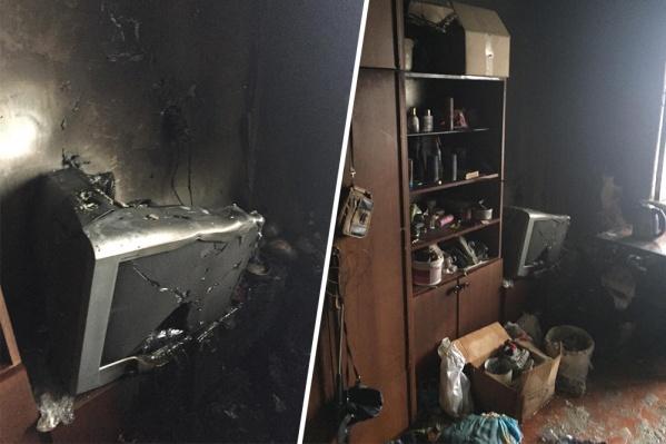 Так выглядит квартира после пожара