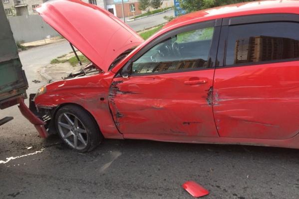Авария произошла на улице Ипподромской вечером 25 августа