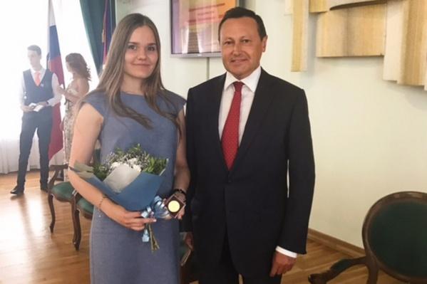 В этом году Анастасия получила Премию главы города молодым талантам