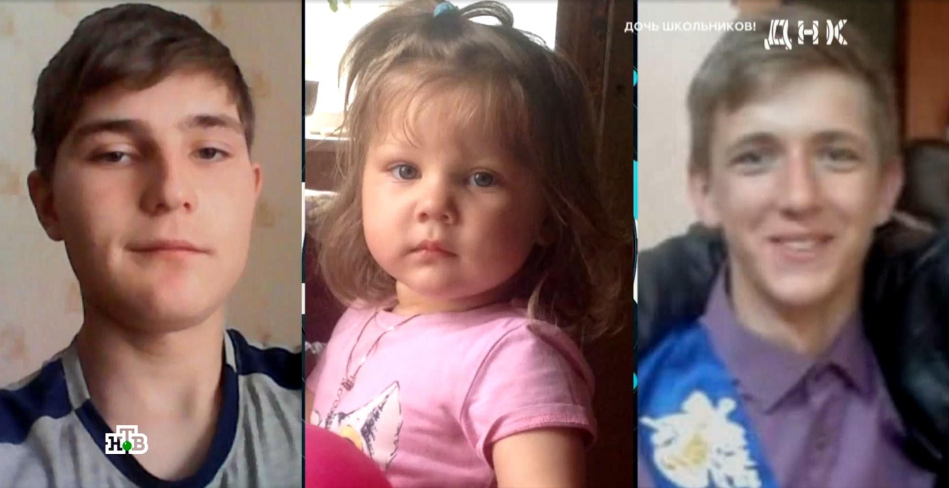 Одна семья была уверена, что дочь Валерии похожа на Дениса (слева), другая видела общие черты с Владимиром (справа)