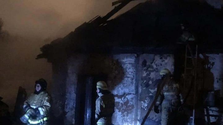 В пожаре под Уфой погиб маленький ребенок
