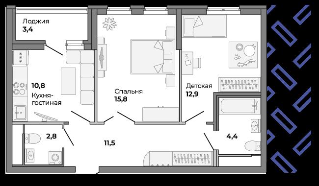 В теплое время года лоджия станет логичным продолжением гостиной и подарит еще больше места для отдыха