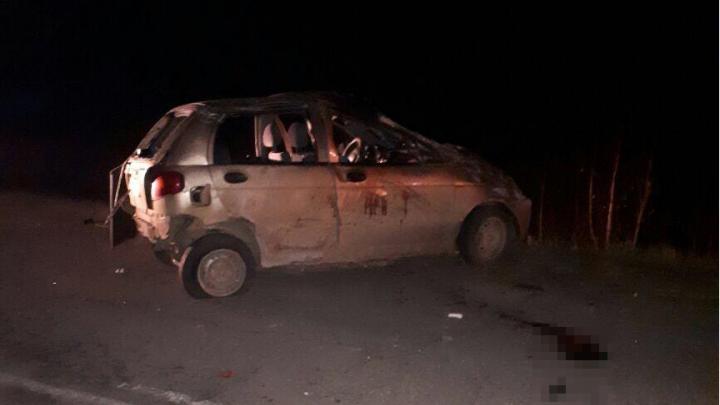 Смертельное ДТП в Башкирии: на дороге перевернулась малолитражка