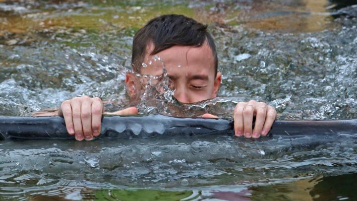В воду вместе с горожанами: как уфимцы отметили Крещение Господне