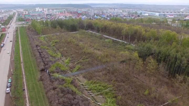 В Башкирии уничтожили городской парк под строительство торгового центра