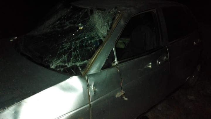 В Башкирии«Лада-Приора» опрокинулась в кювет: водитель погиб
