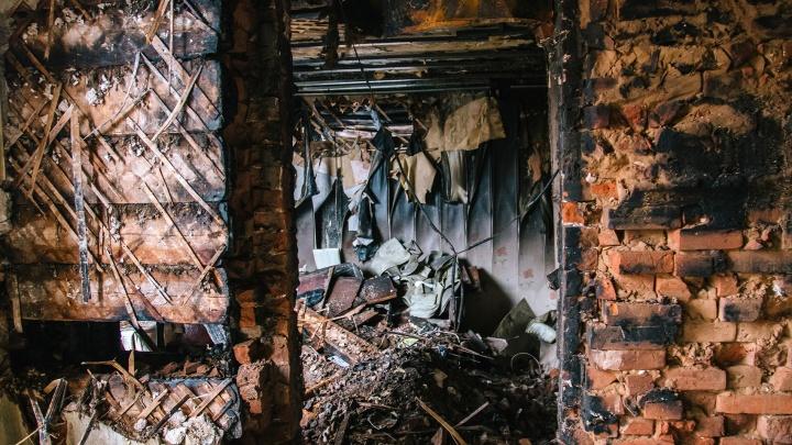 Во время пожара в дачном массиве «Яблочко» под Тольятти погиб мужчина