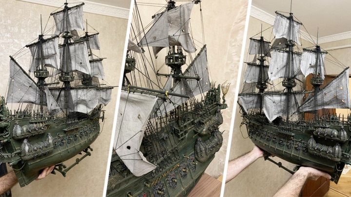 Ростовчанин продает копию корабля из «Пиратов Карибского моря»