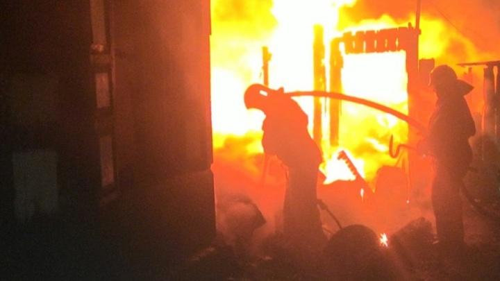 В Омской области во время пожара пострадала семья из трёх человек