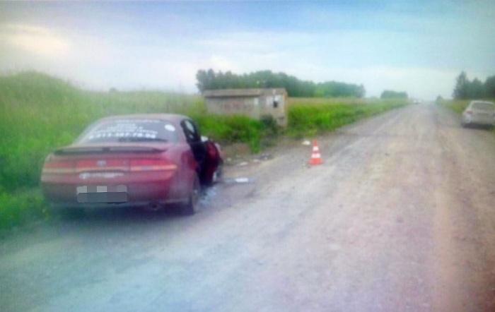 «Тойота» на месте аварии