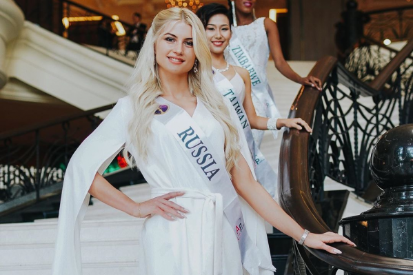 Екатерина вошла в пятёрку лучших на конкурсе «Мисс космополитен Мира»