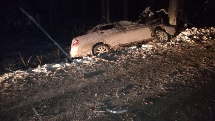 Секунда — и машина в кювете: в аварии под Екатеринбургом пострадал ребёнок