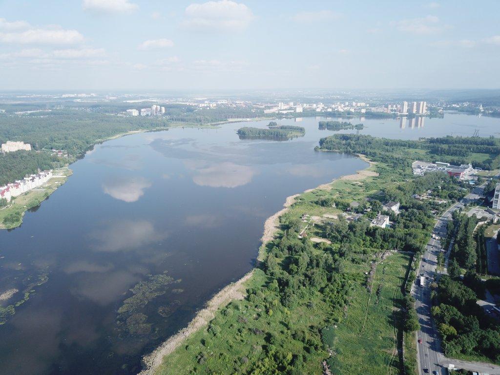 Вид из окон ЖК «Сказы Бажова на набережной Щербакова» летом