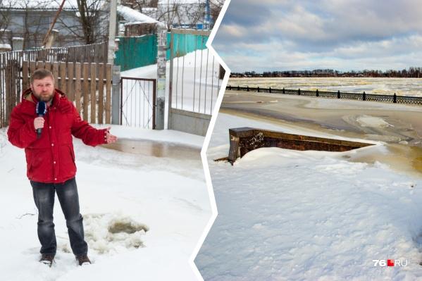 Вода, затопившая дачные посёлки, покрылась льдом