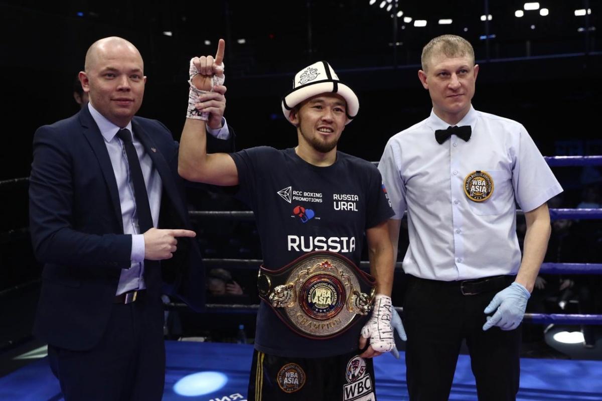 Акжол защитил свой пояс WBA Asia