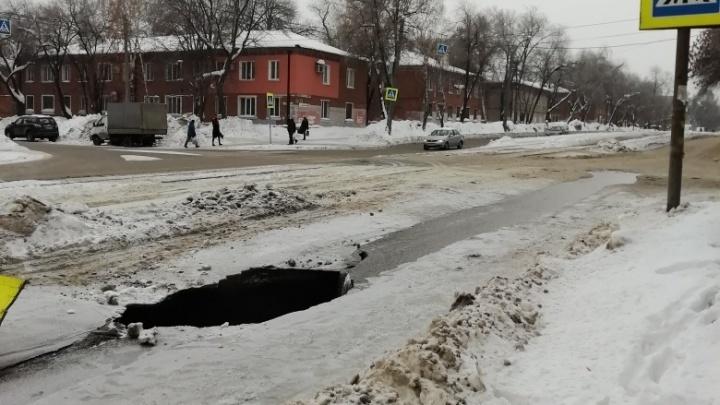 В Самаре восстановили движение на улице Ставропольской