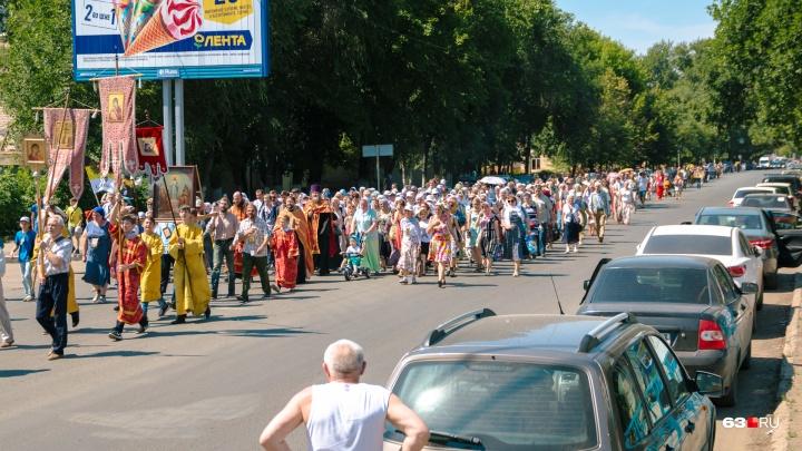 Еще один крестный ход: в Самаре 19 июля перекроют 13 улиц