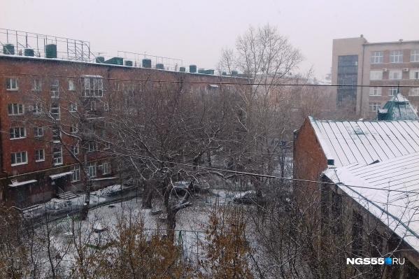 Снег уже не тает, ложась на землю