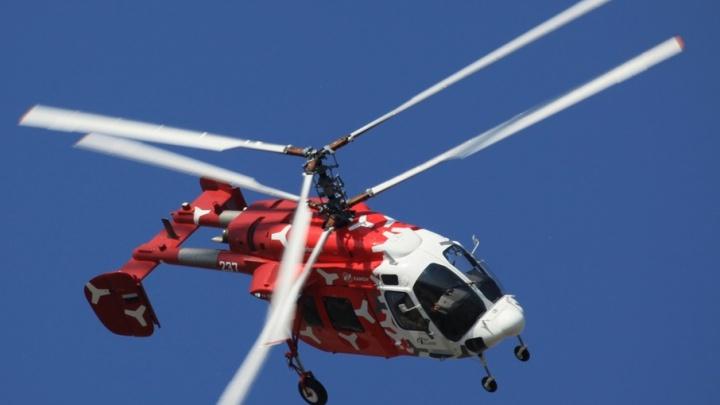 В Башкирии власти попросили вертолет, чтобы освятить землю с высоты