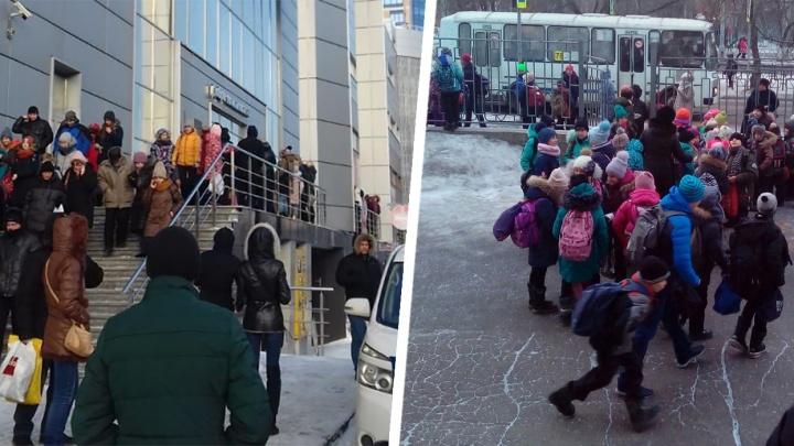 С вещами на выход: по всей Сибири идут массовые эвакуации из-за сообщений о минировании