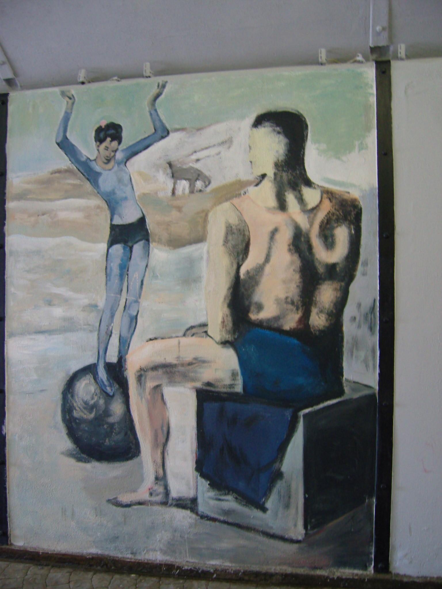 В «Трубе» на Плотинке часто появляются работы художников