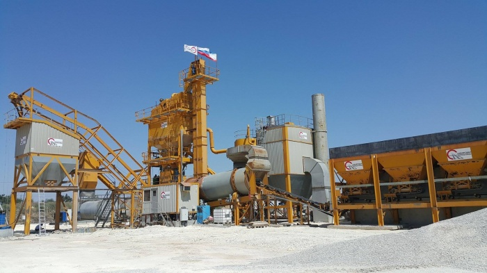 Новый завод производит 240 тонн асфальтобетона в час