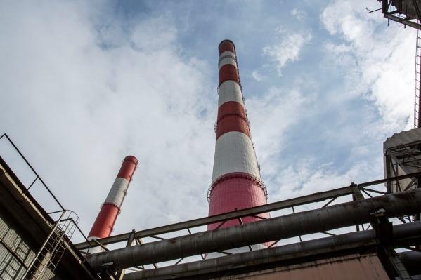 Дымовая труба на ТЭЦ-5 —самое высокое сооружение в Новосибирской области