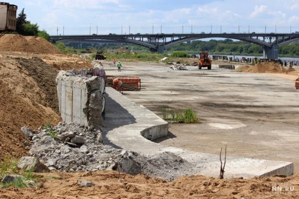 Реконструкция набережной началась