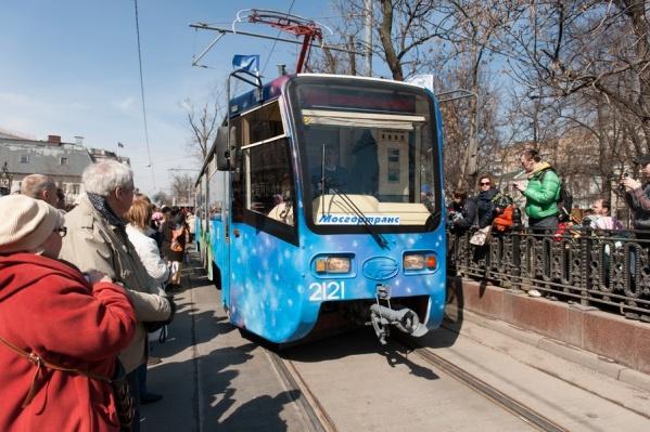 Трамваи рабочие и до сих пор ходят по московским улицам