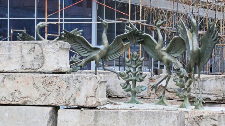 Фонтан «Танцующие журавли» в Уфе реконструируют и перенесут в другое место