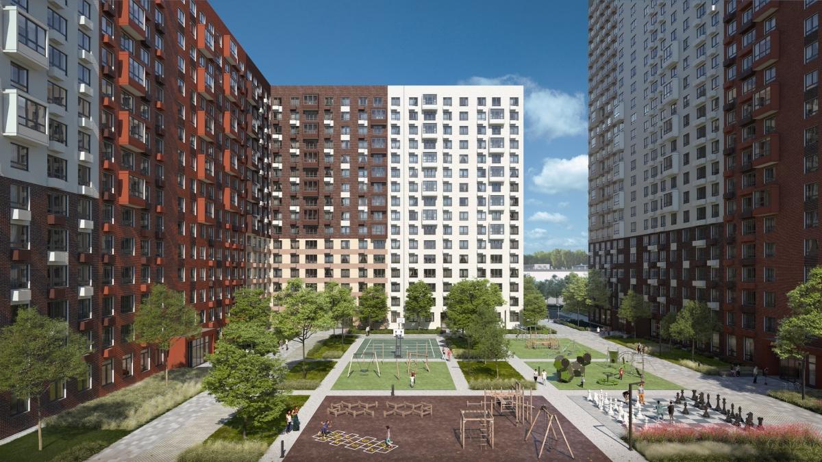Продуманное зонирование двора обеспечивает комфортный досуг жителей всех возрастов