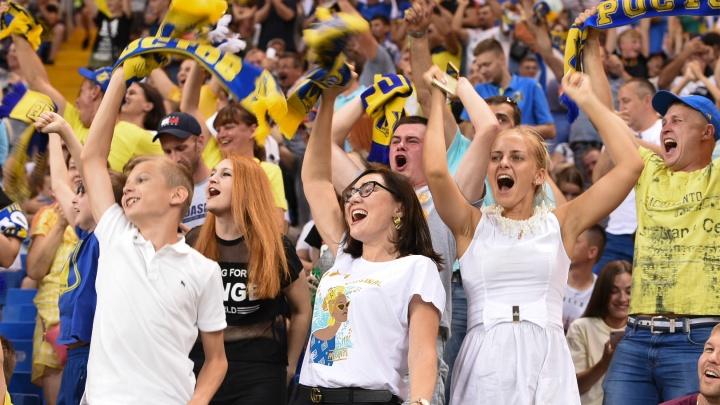 Рок, жара и гол на последних минутах: фоторепортаж с матча «Ростов» — «Рубин»