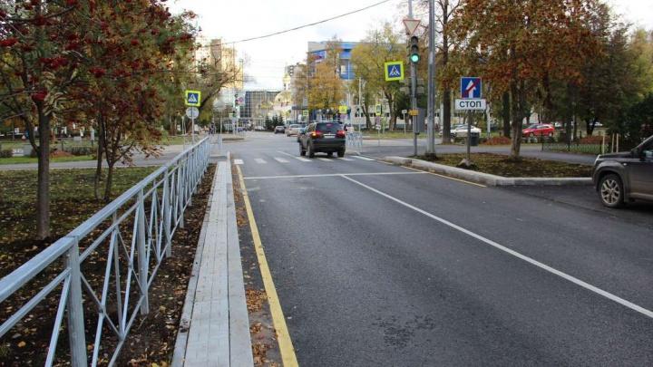 В Перми в октябре завершится ремонт улиц, пересекающих Комсомольский проспект