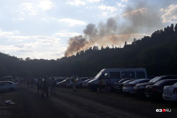 Густой дым напугал гостей фестиваля