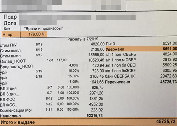 В среднем врачи зарабатывают в больнице 40–45 тысяч рублей