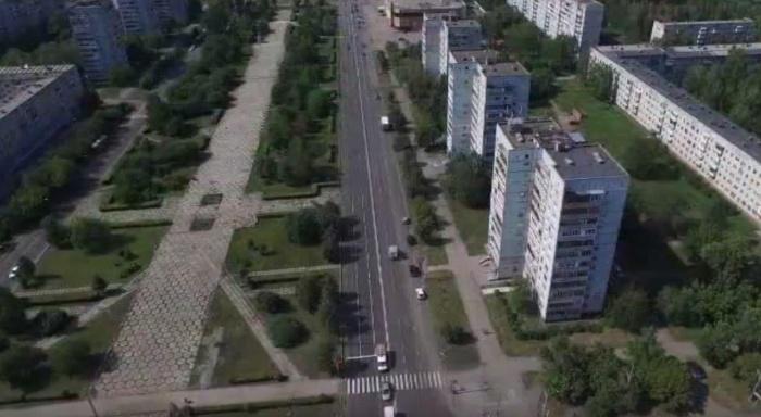 Ремонт дорог в Кемерово сняли с высоты птичьего полета (фото)