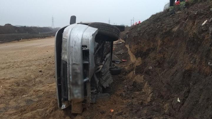 В Самарской области водитель «Лады» съехал в котлован