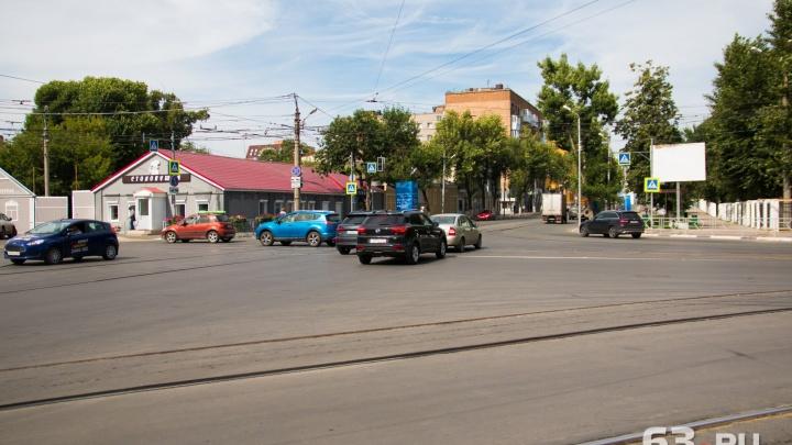 В Самаре убрали перекрытия с дорог на Вилоновской и Красноармейской