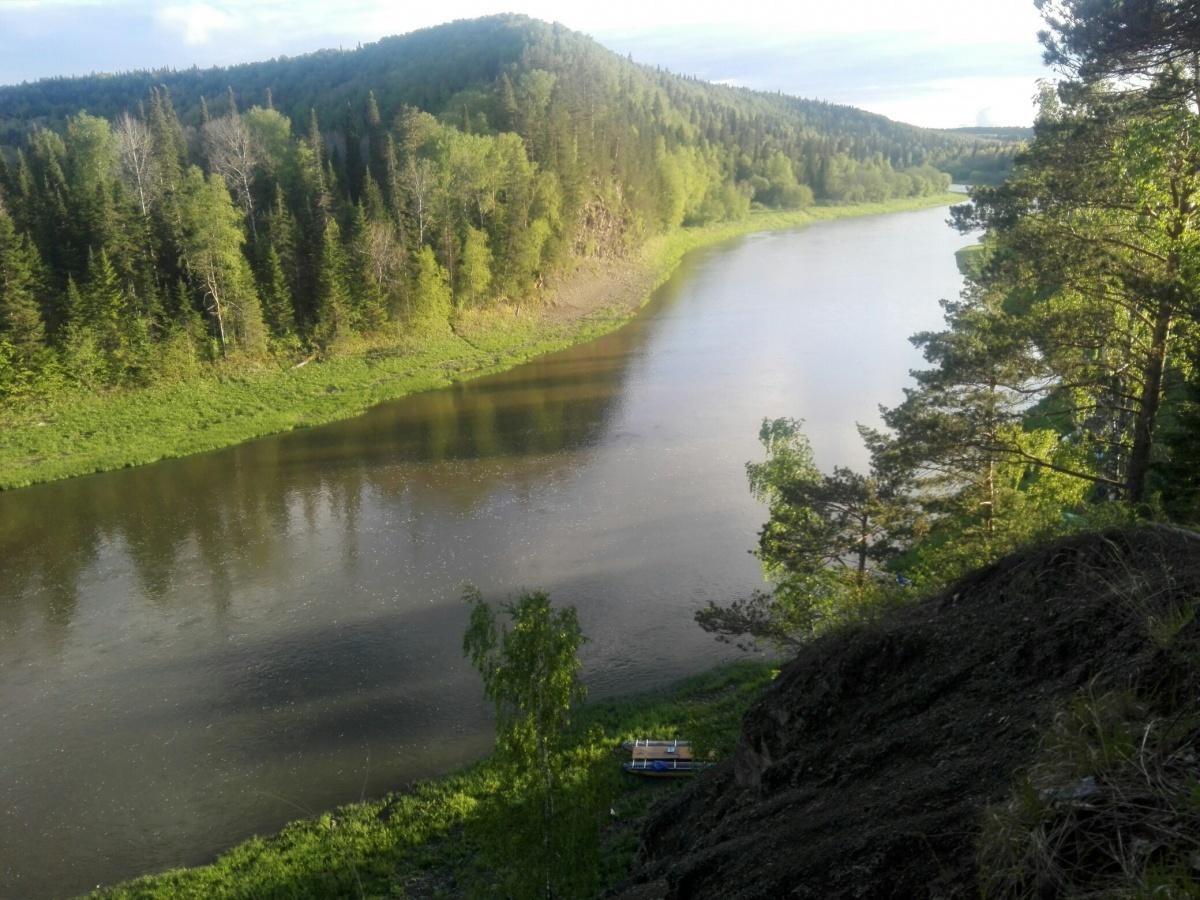 Вид на реку со Змеиной горки