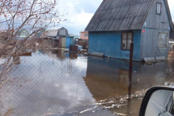 Затопило дачный поселок Заволжье
