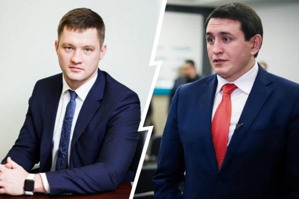 Евгений Чудаев (слева) вызвал подозрения у главыФПБК Виталия Бородина